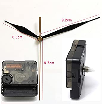 Amazon Com Suzuki Silent Movement Plastic Wall Clock Movement With 12 Hands Clock Accessory Quartz Clock Movement Hs88 Screw Axis Length 6mm Clothing