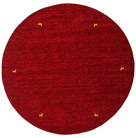 Gabbeh loom - Dark Red rug Ø 6'7