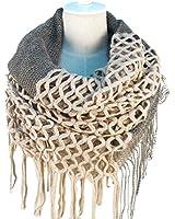 NOVAWO® Fashion Women Winter Warm Knit Long Scarf Tassels Shawl Infinity & Straight