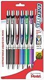Pentel EnerGel Deluxe RTX Gel Ink Pens, 0.7 Millimeter Metal Tip, Assorted Colors,  6 Pack (BL77BP6M) offers