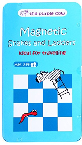 The Purple Cow Magnetic Travel Snakes & Ladders