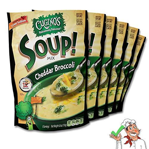 Cugino's Creamy Cheddar Broccoli Soup Mix, 6-Pack