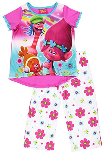 Dreamworks Trolls Cooper Poppy and DJ Suki Pajamas Size 4