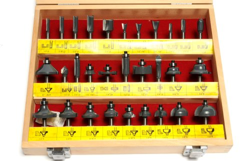 MLCS 6069 1/4-Inch shank Carbide-tipped Router Bit Set, 30-Piece