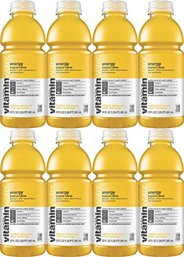 Vitamin Water Energy - Tropical Citrus, 20 Fl Oz Bottle (Pack of 8, Total of 160 Fl Oz)