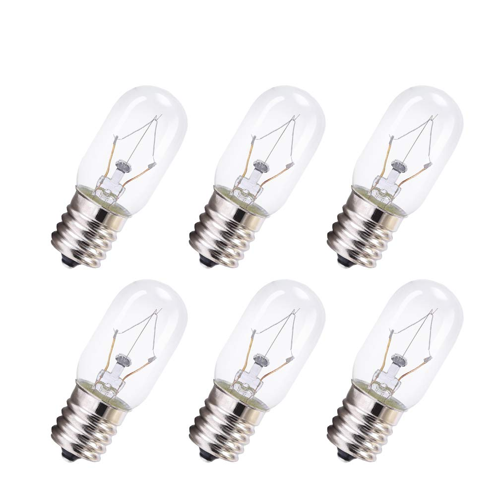 8206232A Microwave Light Bulb, T8 Microwave Exterior Light Bulb Microwave Replacement Oven Part for 8206232A 1890433 8206232 AP4512653, 6Pack