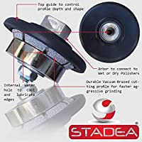 STADEA Diamond Profile Wheel / Profile Grinding Wheel 45 degree / Bevel 5 MM 3/16 high for Grinder Polisher Tile Granite marble Concrete Shaping/Diamond Profiling by STADEA