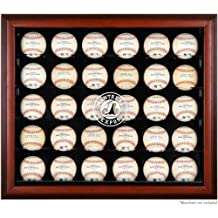 Montreal Expos Logo Black Framed 30-Ball Display Case - Fanatics Authentic Certified - Baseball Free Standing Display Cases