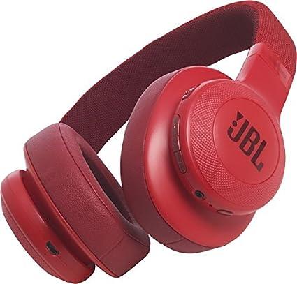 JBL E55BT - Auriculares bluetooth supraaurales plegables con cable y control remoto universal, batería de hasta 20h, rojo: Amazon.es: Electrónica