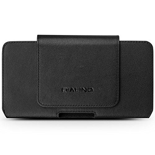 QIALINO Genuine Cowhide Leather Holster Tasche Hüllen Schutzhülle - case for iPhone 7 Plus, Size: 16 x 9 x 1.4cm - schwarz