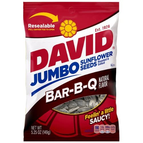 Top David Seeds Jumbo Sunflower Barbeque Flavor, 5.25-Ounce Bag (Pack of 12) supplier