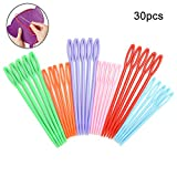 30pcs Colorful Large Eye Plastic Sewing Needles for kid Weave Education