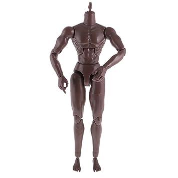 Black Wide Shoulder 1:6 Scale Action Figure Male Body Toy for TTM18 TTM19