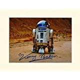 STAR WARS FORCE AWAKENS R2-D2 KENNY BAKER SIGNED AUTOGRAPH PHOTO PRINT IN MOUNT NUMBER 2