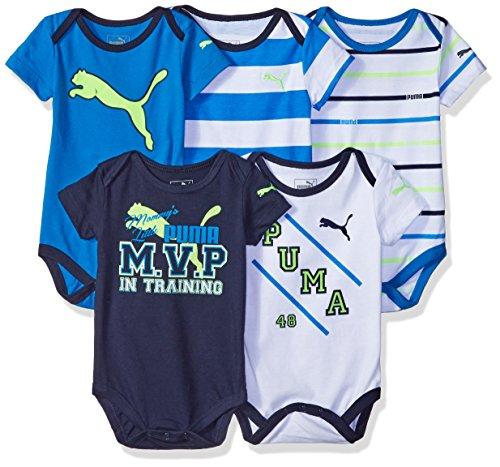 PUMA 01176028 Boys 5 Pack Bodysuits