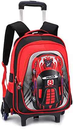 7d38436e8d YUB Car School Bag Drawbars Trolley Bag Backpack with Wheels Rolling  Backpacks for School Kids Waterproof