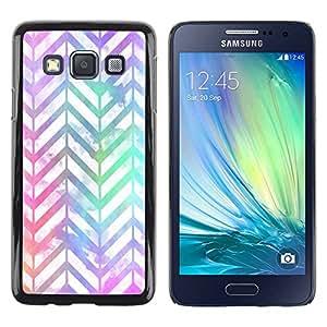Paccase / SLIM PC / Aliminium Casa Carcasa Funda Case Cover - Shiny Iridescent White Teal - Samsung Galaxy A3 SM-A300