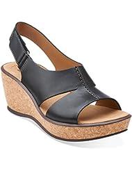 CLARKS Womens, Rosemund Dune Wedge Slingback Sandals