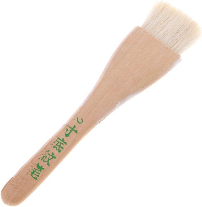 Ycncixwd Cepillo de pintura al óleo de madera acrílica de la acuarela de la manija del pelo de la cabra seis tamaños