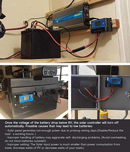 SCYDAO 10A 20A 30A Solarladeregler, Solar Panel Regler Mit USB-Port Anzeige 12V / 24V, LCD-Anzeige, Temperaturkompensation Überlastschutz,30a