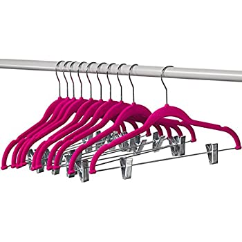 Amazon.com: Home-it 10 Pack Clothes Hangers with Clips