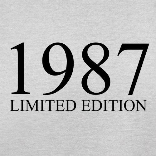 1987 Limierte Auflage / Limited Edition - 30. Geburtstag - Herren T-Shirt - Hellgrau - XXL