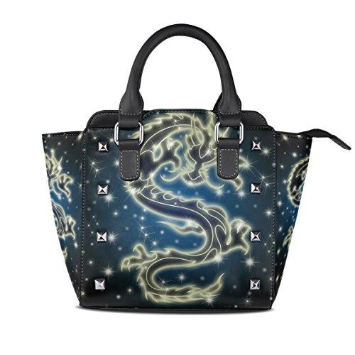 Women's Bags Handle Top Dragon The Chinese Sky Handbags Night TIZORAX PU Leather Celestial Shoulder Uq0CwUF