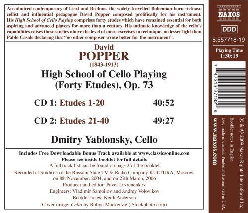 Yablonsky, Popper - Popper: High School of Cello Playing - Amazon ...