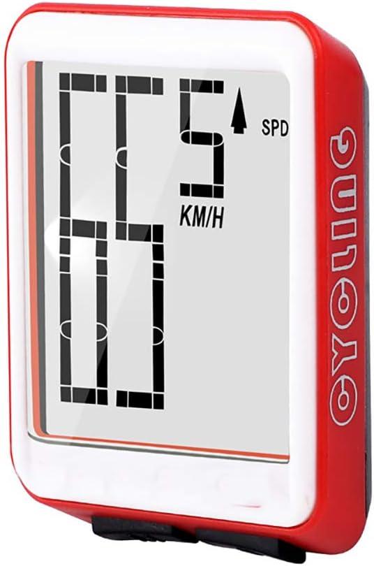 SAKURAM Bicicleta Cuentakil/ómetros Veloc/ímetro Inal/ámbrico Multifunci/ón con Pantalla LED de Retroiluminaci/ón Impermeable Veloc/ímetro para Bicicleta a Prueba de Agua Cuenta Kilometros Bici