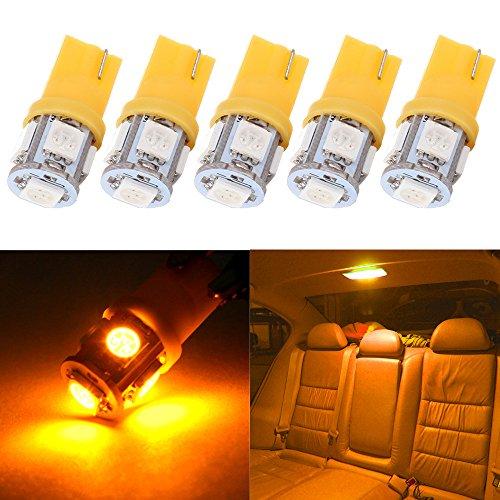 License Plate Lights,cciyu Amber t10 194 168 5-5050-SMD LED Bulbs,5Pack