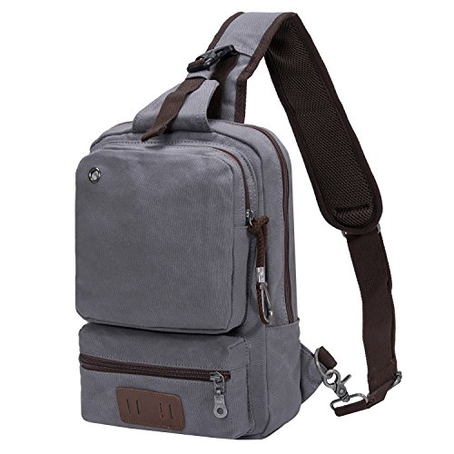 Travel Outdoor Computer Backpack Laptop Bag (Grey) - 5