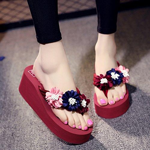 sandali Ladies' da spiaggia di b fresca spessore moda FLYRCX infradito semplice pantofole estate piedi antislittamento personalità RqAOwd17