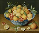 The High Quality Polyster Canvas Of Oil Painting 'Still Life With Lemons, Oranges And A Pomegranate, About 1620 - 1640 By Jacob Van Hulsdonck' ,size: 30x35 Inch / 76x90 Cm ,this Reproductions Art Decorative Canvas Prints Is Fit For Wall Art Decor And Home Decor And Gifts