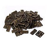eDealMax Governo del cassetto del portello 1.2 pollici di lunghezza metallo Butt pieghevole Cerniere Bronze 100PCS di tono