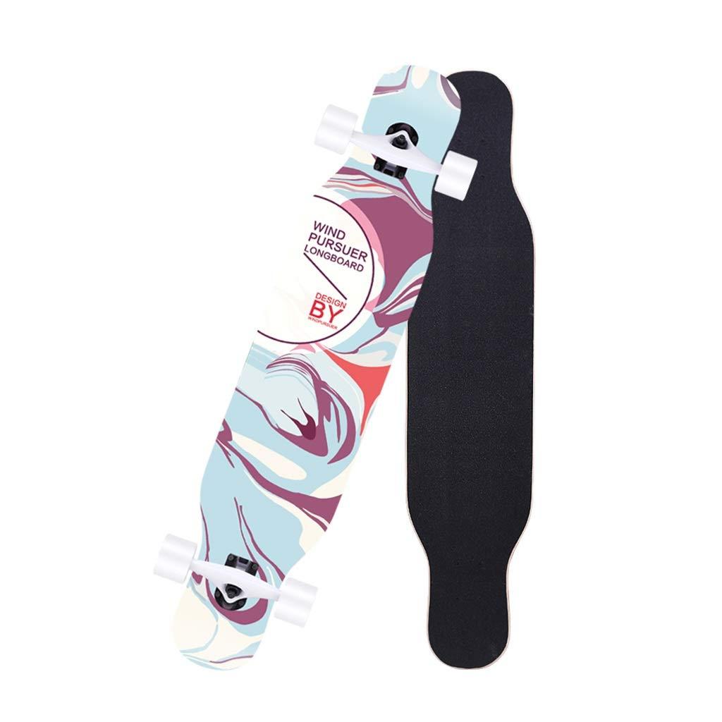 LINGLING-スケートボード ロングボードスケートボード初心者4ラウンドダブルスケートボードスケートボード青少年大人のブラシストリートダンスボード - カラフル Photo Color