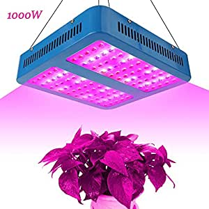 1000W LED Grow Light Triple Chips Full Spectrum Hanging Lamp IR/UV, Aluminum Made with Daisy Chain for Indoor Plants Hydroponic Greenhouse Seedlings Veg & Flower (10W LEDs 100PCS)