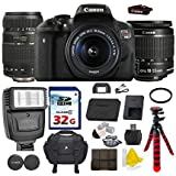 Canon EOS Rebel T6i 24.2 MP Digital SLR Camera with Canon EF-S 18-55mm IS II Lens + Tamron AF 70-300mm F/4-5.6 Di LD Macro Lens + Commander 32GB Memory Card + Commander UV Filter + Spider Tripod