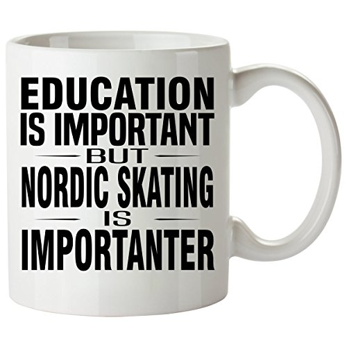 NORDIC SKATING Mug 11 Oz - Good for Gifts - Unique Coffee Cup