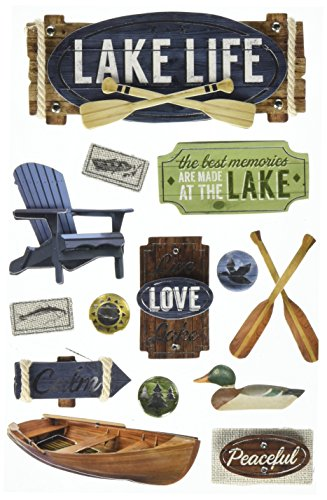 Love Birds Cardstock Stickers (Paper House Productions STDM-0249E 3D Cardstock Stickers, Lake Life (3-Pack))