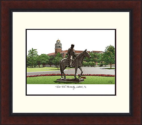 Campus Images TX960LR Texas Tech University Legacy Alumnus Framed Lithographic Print