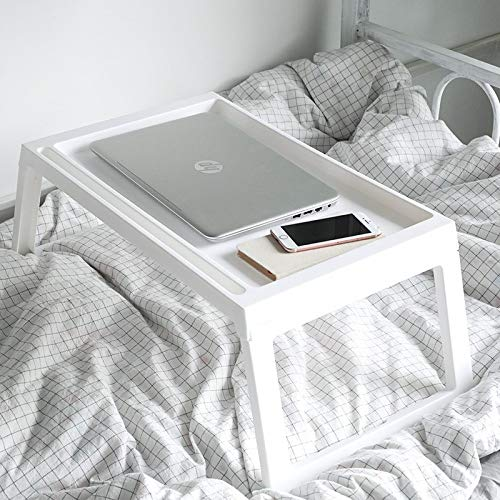 LIULIFE Bed Table Tray - Foldable Breakfast Serving Tray for Kids Eating, Laptop Computer Desk for Sofa, Portable Outdoor Camping Stand with Floding Legs,White-54.535.5cm by LIULIFE (Image #5)