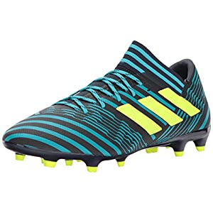 adidas Originals Men's Nemeziz 17.3 Firm Ground Cleats Soccer Shoe, Legend Ink/Solar Yellow/Energy Blue, (7 M US)
