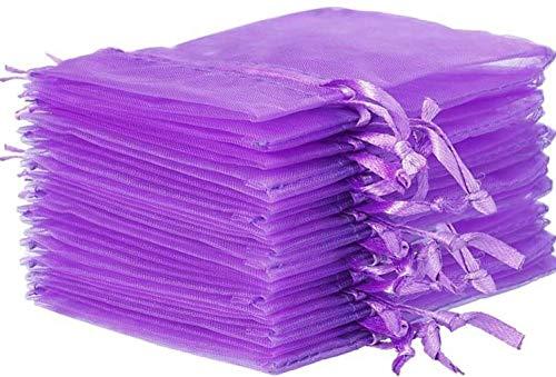 - zziggysgal 30 Empty Organza Drawstring Sachet Bags, Size 3x4 inches