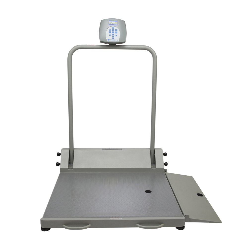 Health O Meter 2600KL Digital Wheelchair Ramp Scale with Folding Ramp, Capacity 1000 lbs., Resolution 0.2 lb, 32-1/4'' x 36'' Platform, 32¼'' Width x 9 7/8'' Depth Ramp
