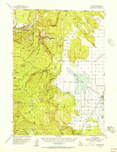 YellowMaps Macdoel CA topo map, 1:62500 Scale, 15 X 15 Minute, Historical, 1954, Updated 1956, 21.8 x 16.8 in - ()
