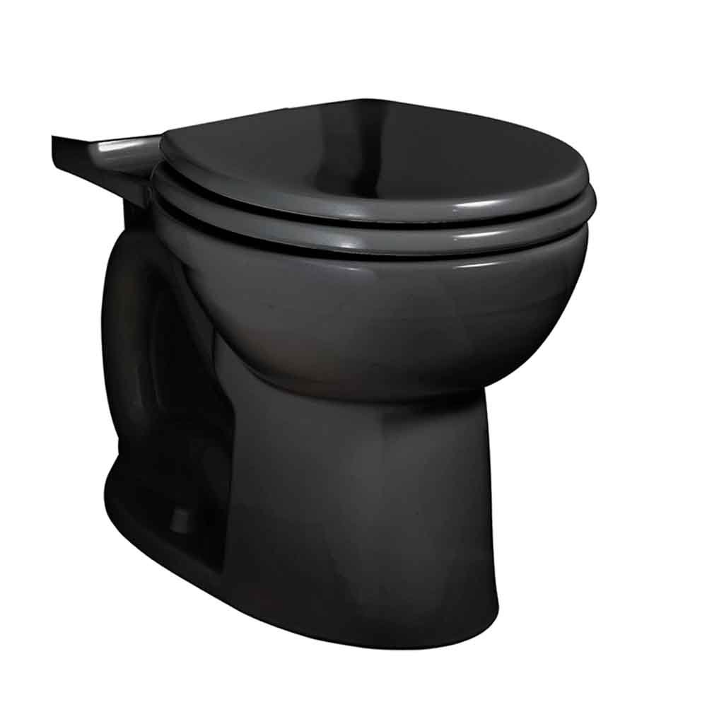 American Standard 3717D001.178 Cadet 3 FloWise Round Front Toilet Bowl Only in Black