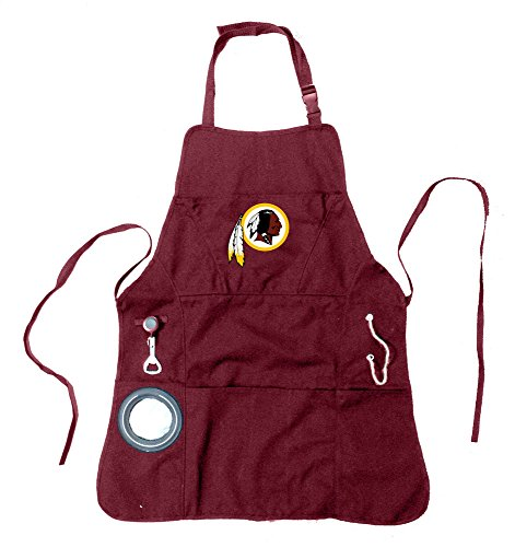 Team Sports America Ultimate NFL Tailgate Grilling Apron, Washington Redskins ()