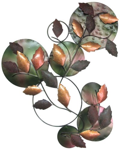 D-Art Collection Iron Leaves Wall Decor