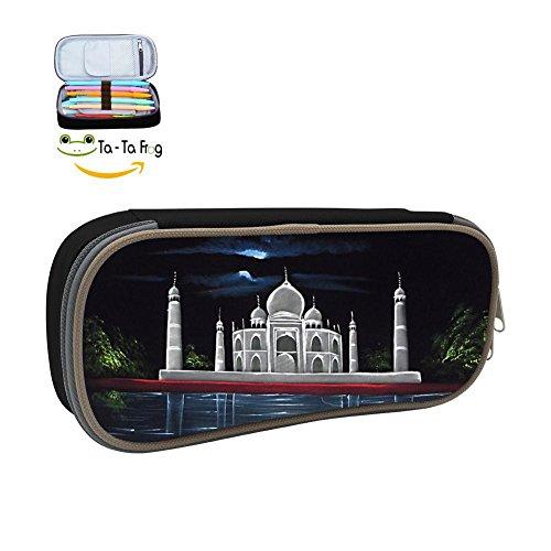 - Taj Mahal Portable Pens Pencil Case Bag