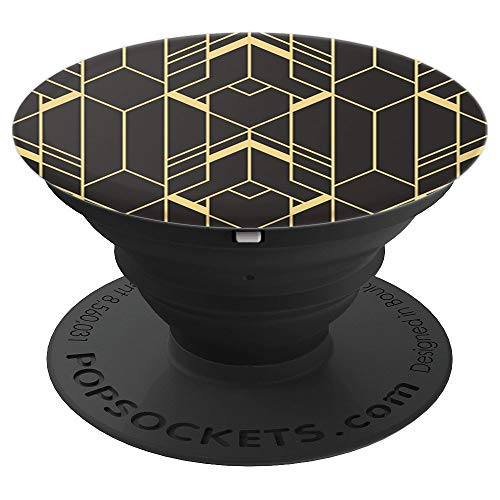 Black Art Deco Design Pop Socket: Pop Socket Art Deco - PopSockets Grip and Stand for Phones and -
